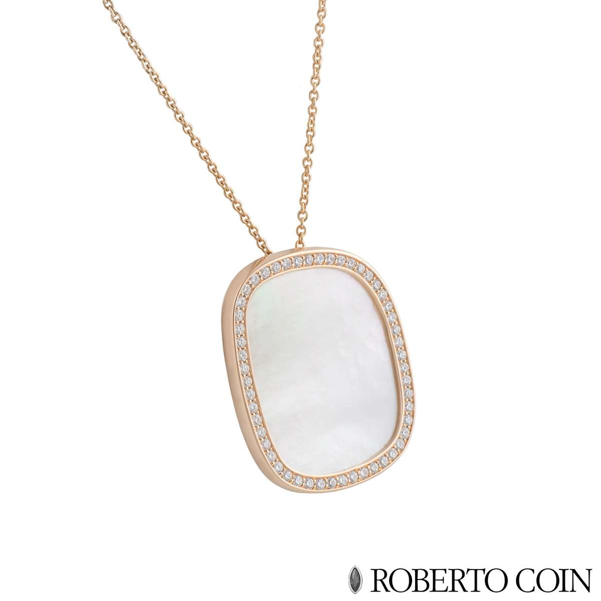 Roberto Coin Diamond and Mother of Pearl Pendant 8881934AX31M